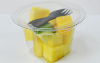 Prepared fruit pots mango