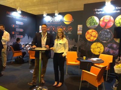 Mark and Yvonne Jupiter Group Madrid Fruit Attraction stand