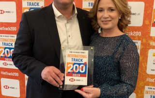 CEO Mark and Director Yvonne at Fast Track 2019 Awards Dinner