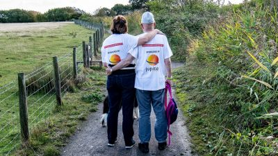 Jupiter sponsored pair, Michael and Pascale O'Leary are walking a huge 200 miles in aid of the Teenage Cancer Trust.