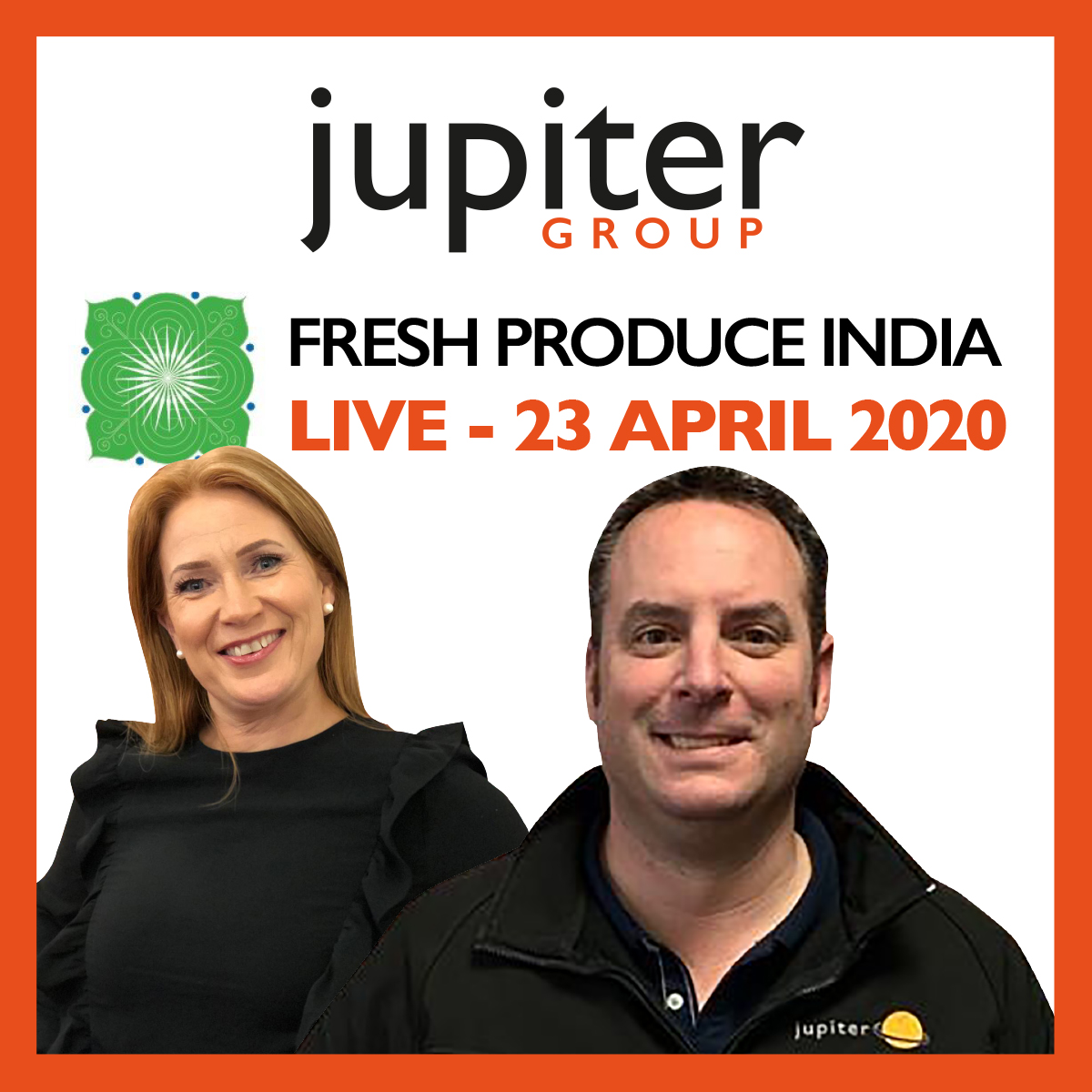 Jupiter Group CEO Mark and his wife, Joint MD Yvonne will be keynote speakers at Fresh Produce India