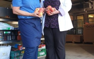 NHS workers receive boxes of apples from fresh produce grower and supplier Jupiter Group