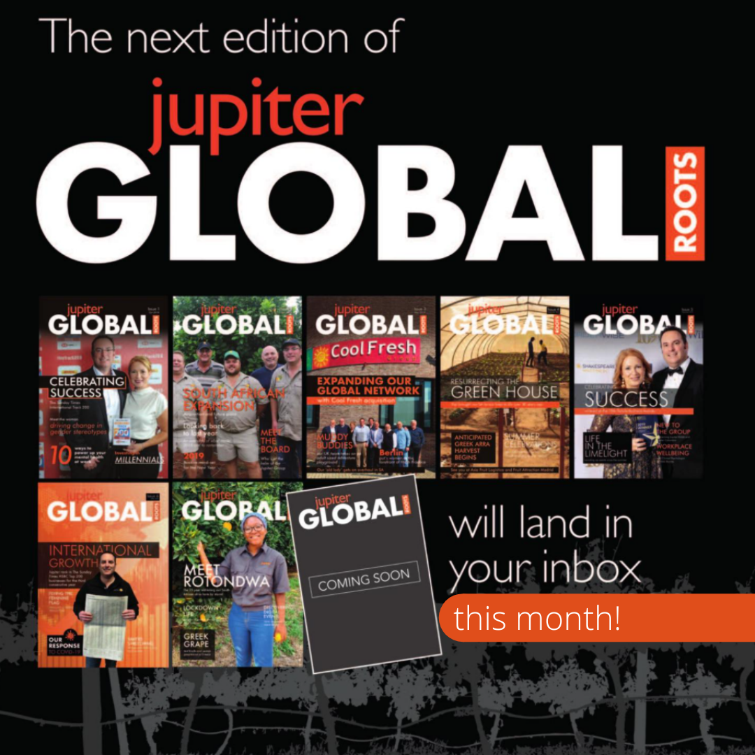 fresh produce grower and supplier Jupiter Group's corporate magazine arriving soon