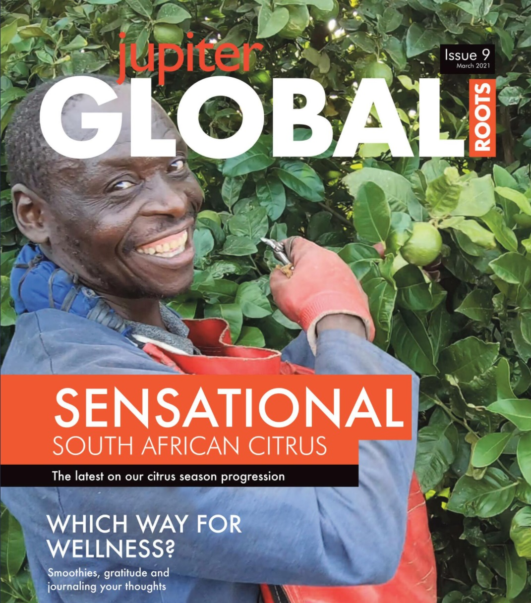 Jupiter Group's corporate magazine, Global Roots issue 9 Front cover