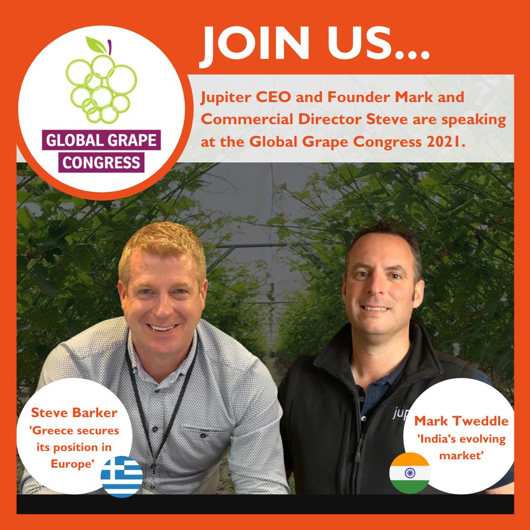 CEO and Founder Mark Tweddle and Commercial Director Steve Barker featuring at Global Grape Congress