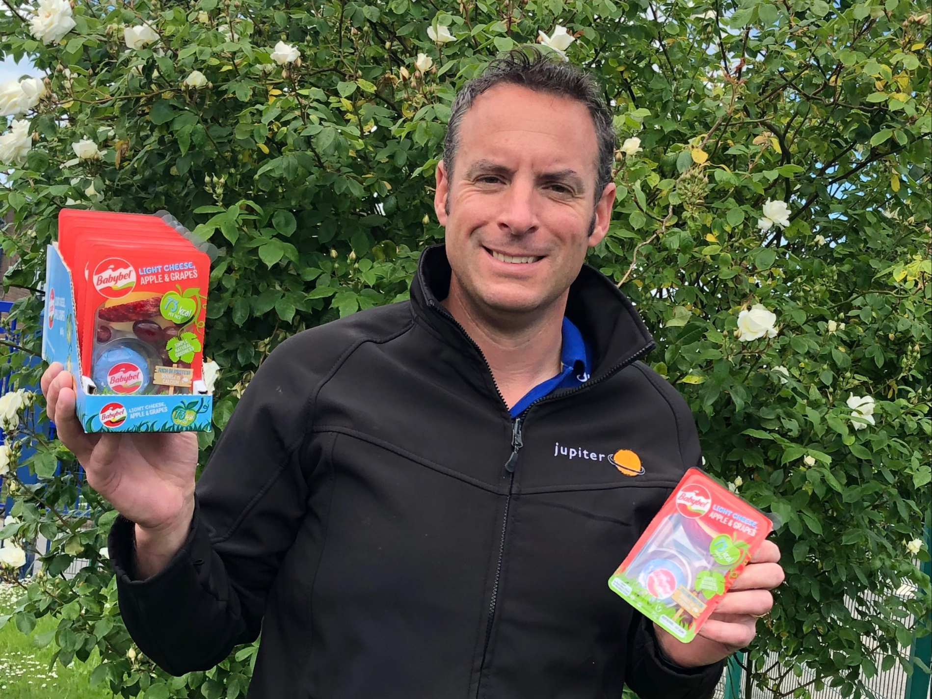 Jupiter Group's CEO Mark Tweddle and Babybel® launch snackpack
